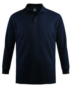 Cotton Long Sleeve Pique Polo