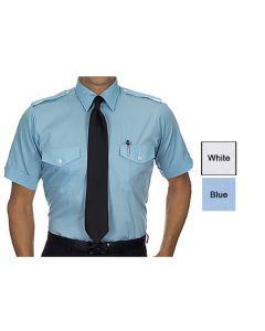 Men's Short Sleeve Aviator Shirt - Valet Uniforms