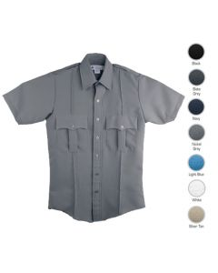 Men's 100% Polyester Short Sleeve Guard Shirts
