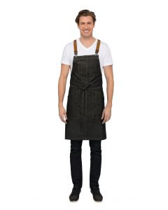 Berkeley Bib Apron: Black Indigo - Culinarily Uniforms