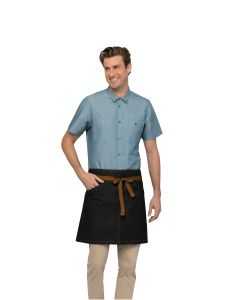Berkeley Half Bistro Apron: Black Indigo - Culinarily Uniforms