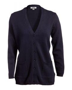 Edwards Ladies V-Neck Long Cardigan Sweater