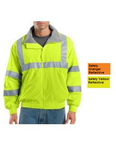 Men's Enhanced Visibility Jacket with Reflective Taping - Hotel Uniforms
