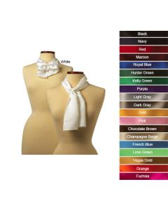 Solid Color Polyester Scarves - Hotel Uniforms